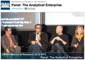 Technology Leaders CEO Andrew Edwards at OMMA Metrics & Research 2012 NYC Panel